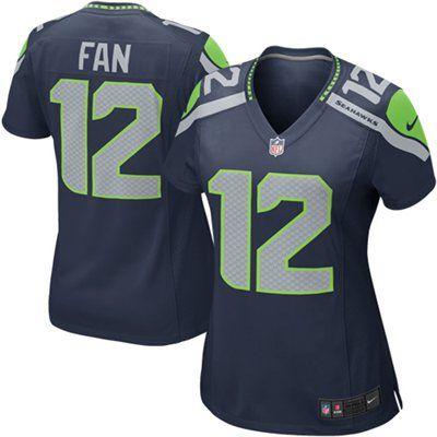 Nike Seattle Seahawks 12th Fan Women s Game Jersey - College Navy ... f4e8e8180