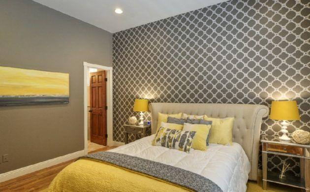 Fesselnd Wohnideen Schlafzimmer Grau Und Gelb Kombinieren