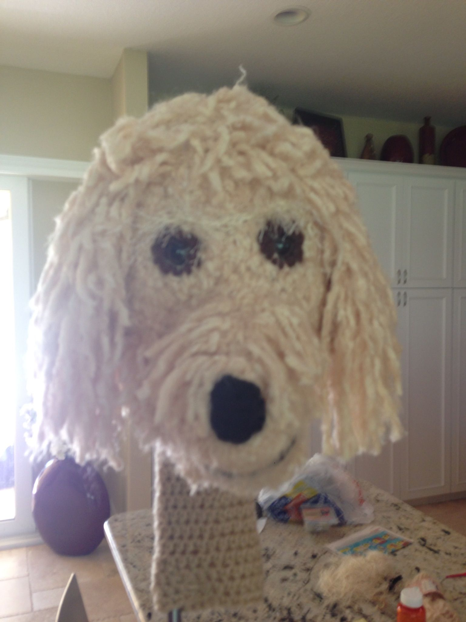My latest creation a crochet goldendoodle club head cover for my my latest creation a crochet goldendoodle club head cover for my golf bag my doods bankloansurffo Gallery