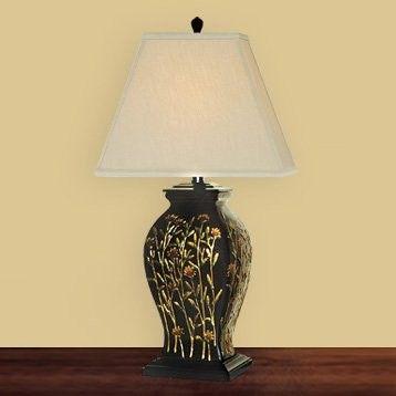 Jb Hirsch J15449 Long Stem Flowers Porcelain Table Lamp Table Lamp Metal Floor Lamps Lamp