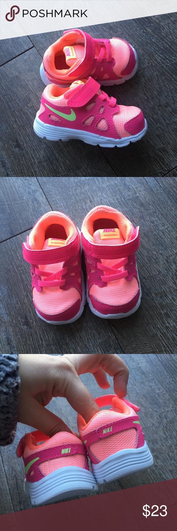 Girls sneakers, Baby girl nike, Neon
