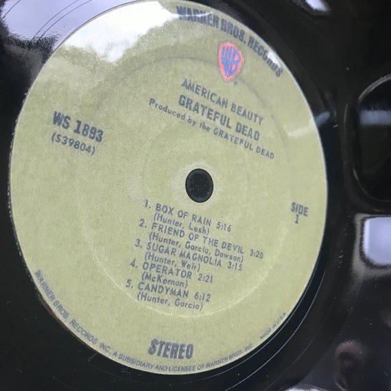 Record Bowl - Classic Rock 12 Vinyl - Vintage 70's Rock Vinyl Collectible - Grateful Dead American Beauty 12 LP #pictureplacemeant