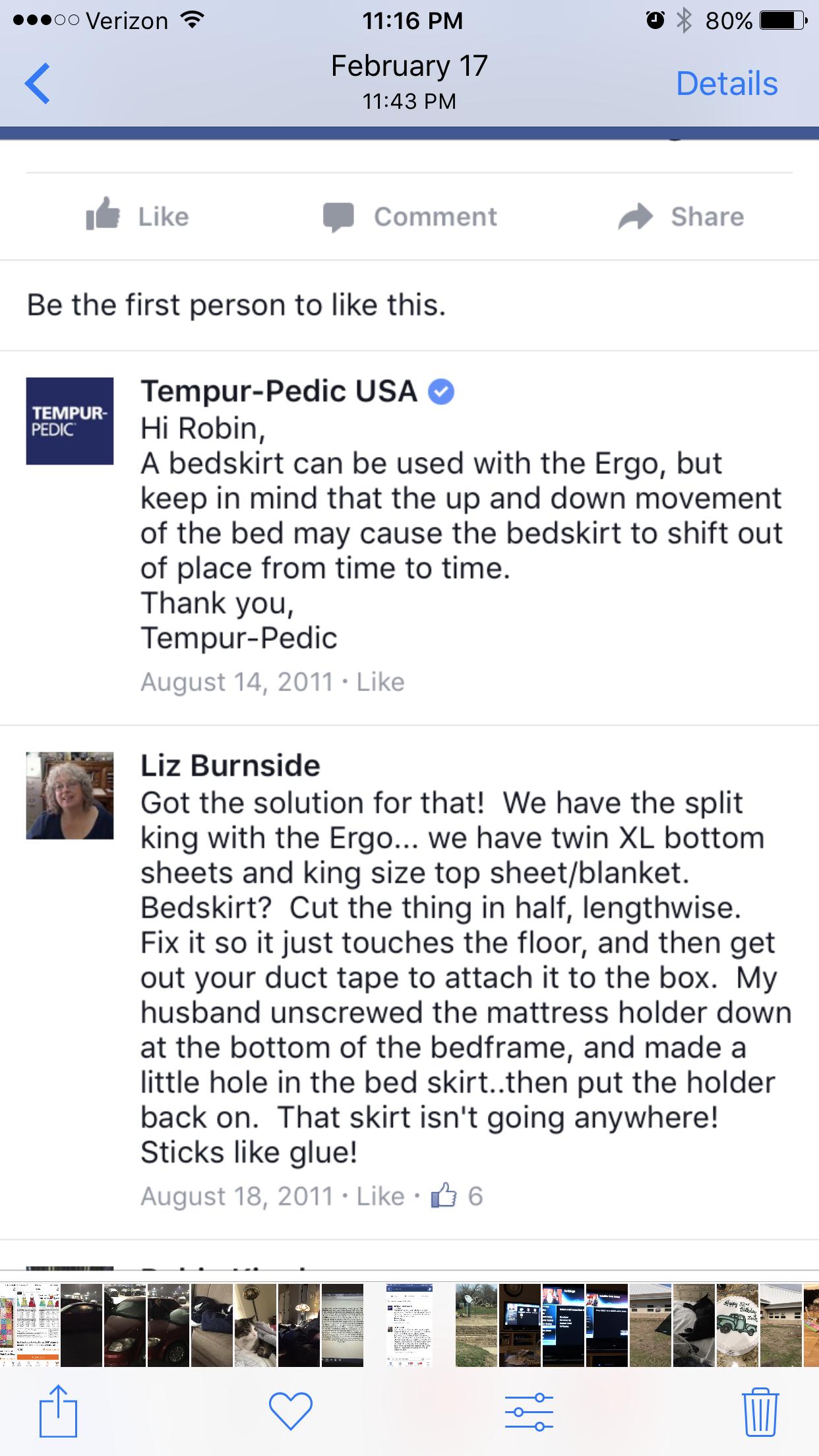 Tempurpedic Bedskirt For Split King Adjustable Bed Oh You Crafty