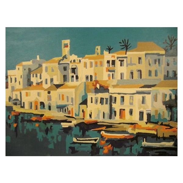 Vintage Painting ISLAND BOATS PAINT By Number 1950s 12 x 16 ❤ liked ...