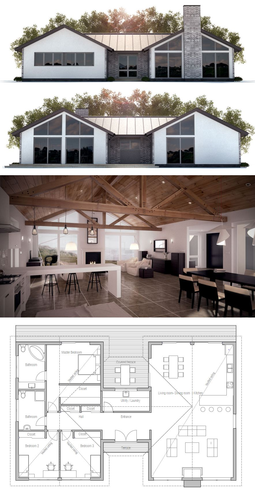 House plan house plans pinterest house exposed for House plans with exposed beams