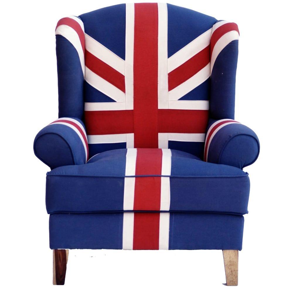 Merveilleux Union Jack Chair Wallace Sacks Union Jack Wingback Armchair