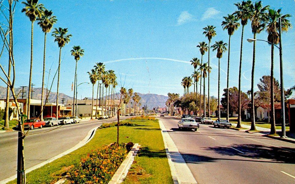 Brand Boulevard in San Fernando, facing the San Gabriel