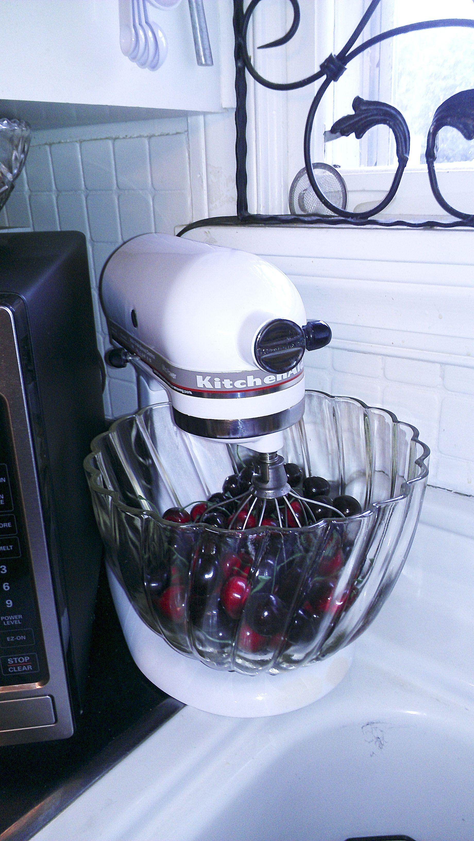 I saw the cherry red anniversary kitchenaid mixer at