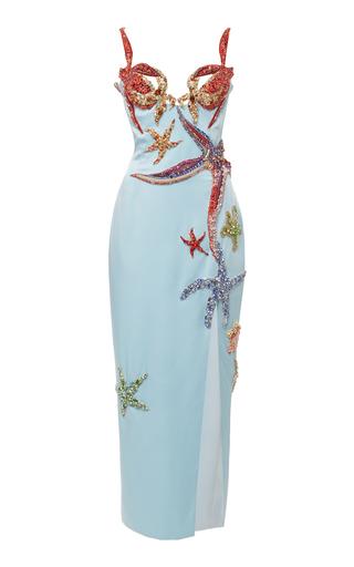 Embellished Satin Midi Dress Shop the Embellished