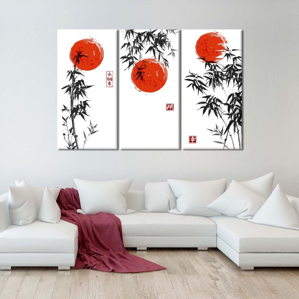 Japanese Bamboo Multi Panel Canvas Wall Art In 2021 Japanese Room Decor Japanese Wall Decor Japanese Wall Art