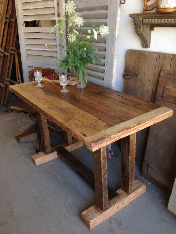 Reclaimed Wooden Farm Table 25 X 50 X 30 Farm Table Farm