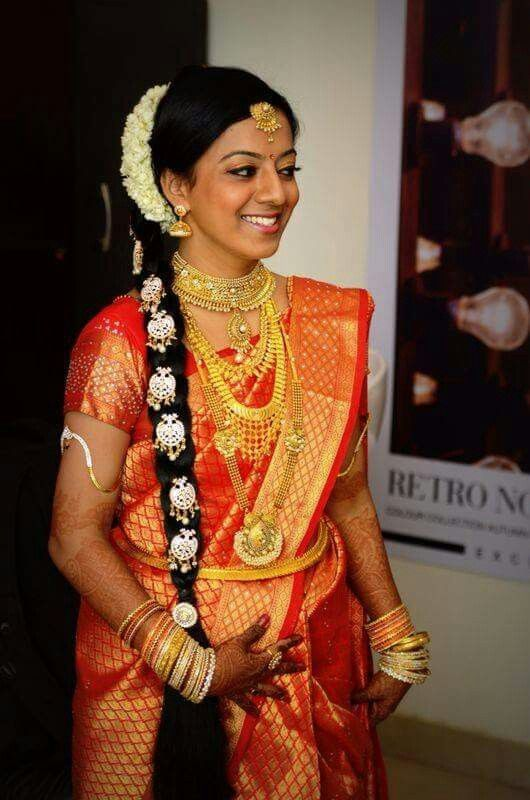 South Indian Bridal Makeup Gold Eyeshadow With Marsala Lips