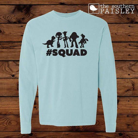 f0011dace8b Disney Toy Story Squad T-Shirt - Comfort Colors Long Sleeve - Woody - Buzz  Lightyear - Dinosaur - Je