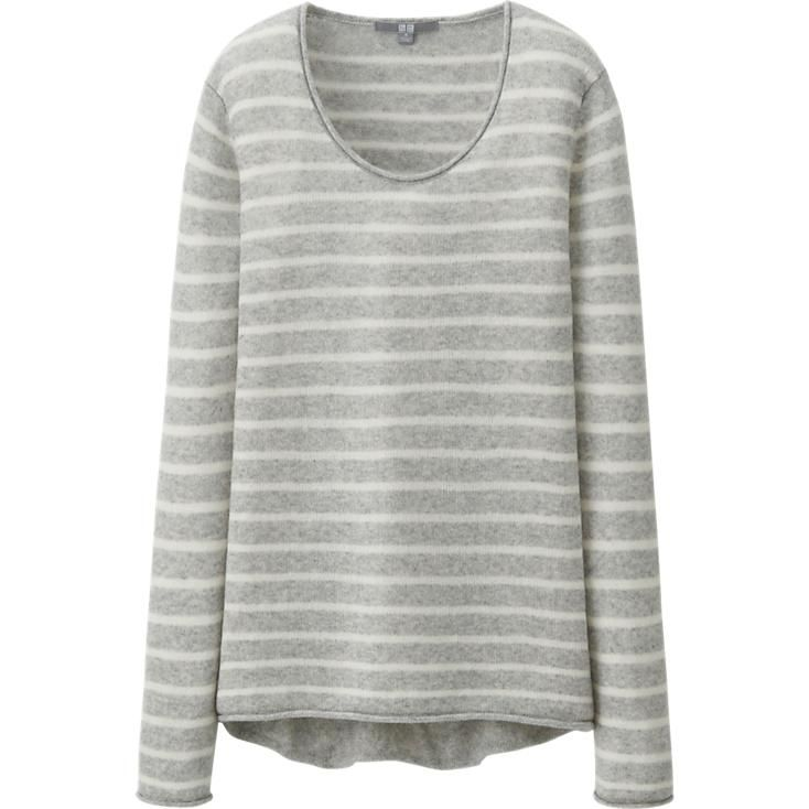 WOMEN LIGHT CASHMERE STRIPED SWEATER | The Wardrobe | Pinterest ...
