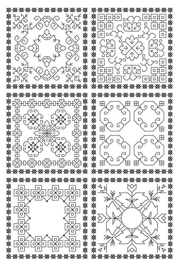 I love the look of blackwork embroidery. It\'s classic and graphic ...