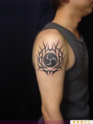 Tribal Egyptian Tattoo On Right Shoulder Tattoos Egyptian Tattoo Tattoo Images