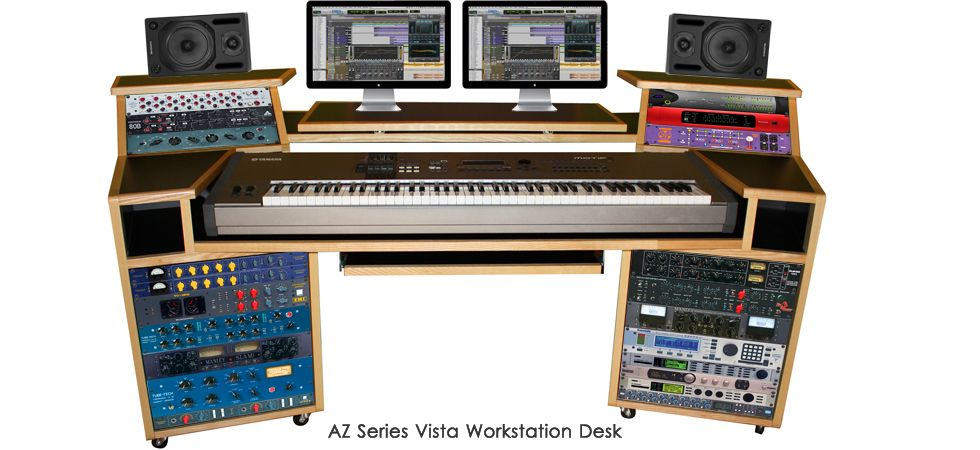 StudioRacks The Origin Recording Studio Desk Is Designed To Provide A  Compact, Flexible And Stylish Workstation That Meets The Needs Of Todayu0027s  Musu2026