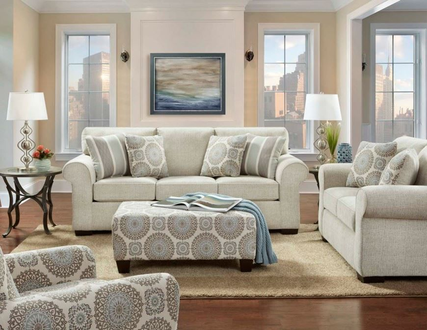 This Rose Linen Sofa And Loveseat Are Spacious And Comfortable With Plush Seat And Soft Bac Living Room Sets Furniture Living Room Sets 3 Piece Living Room Set