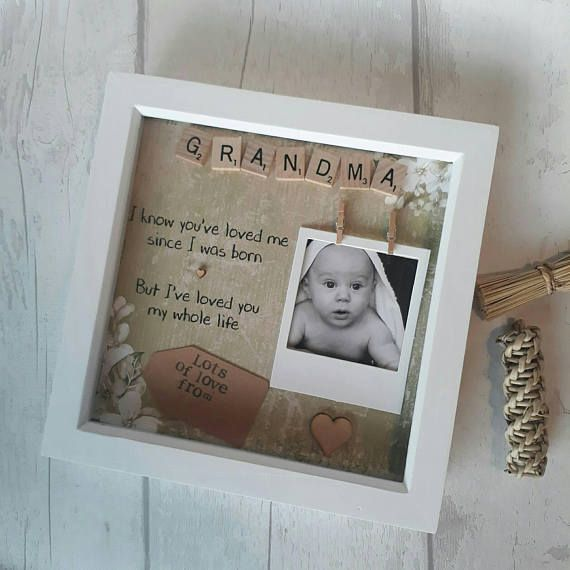 Personalised Grandma Frame Gift For Nanna Present Birthday Mom Mother NanGift Nana