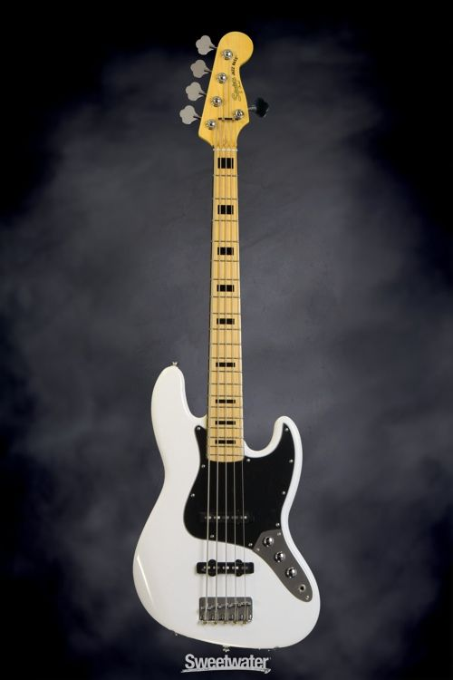 Squier Contemporary Active Jazz Bass V Hh Satin Black Sweetwater Exclusive Fender American Deluxe Squier Bass Guitar