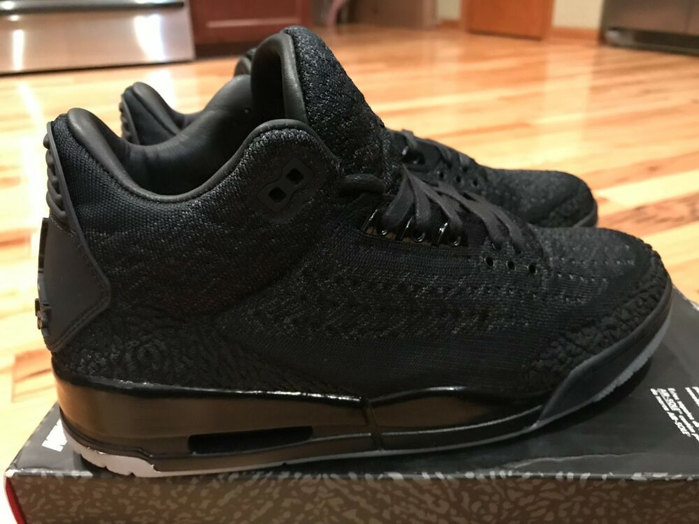 e85764990515 Nike Air Jordan 3 Retro Flyknit Black Anthracite AQ1005 001 Men s Size 9   shoes  kicks  solecollector