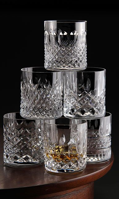 Waterford Crystal Heritage Straight Sided Whiskey Tumblers Set Of Six Crystal Whiskey Glasses Whiskey Tumbler Waterford Crystal