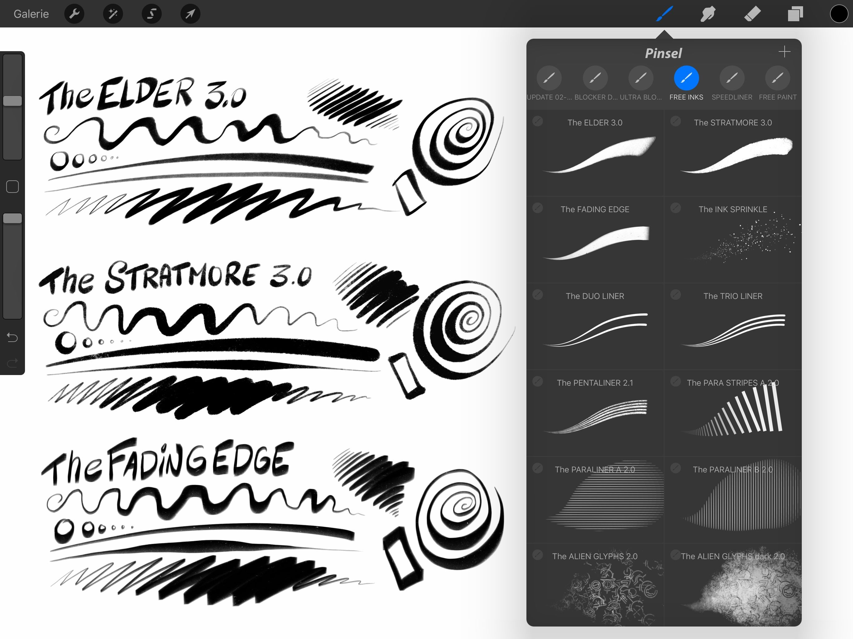 Free Comic Ink Brush Set For Procreate 16 Inking And Sfx Brushes