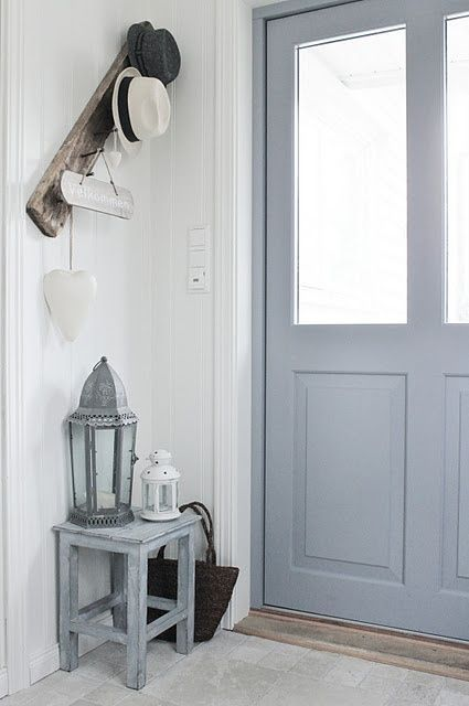 Choisir ma porte du0027entrée French blue, Hall and Small entry