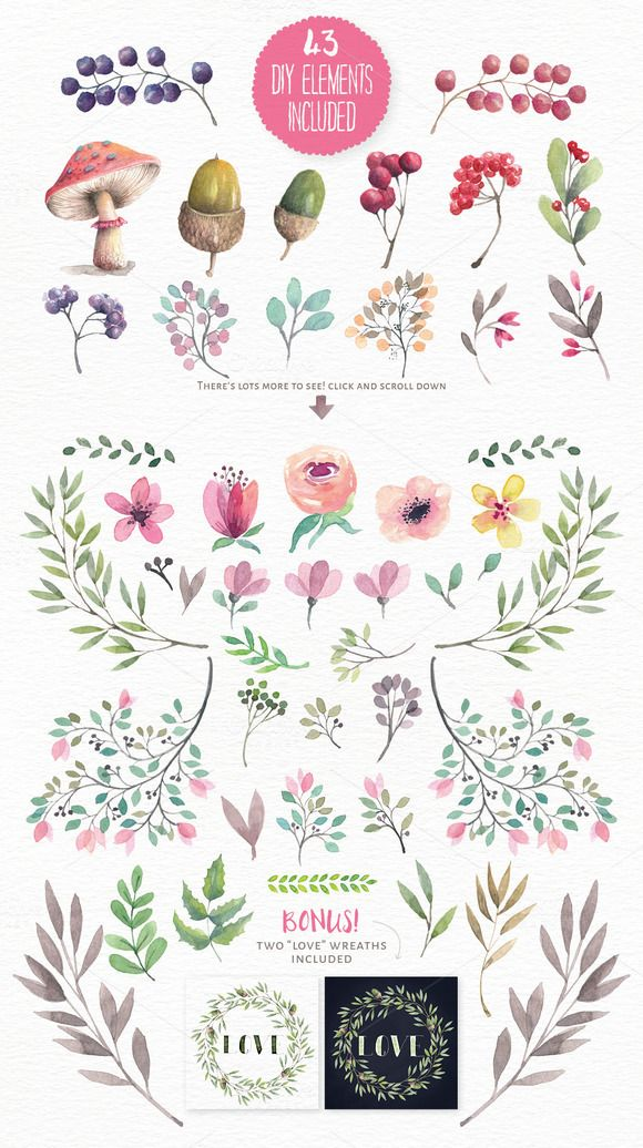 40% off! Magical Watercolors vol 3 by Lisa Glanz on @creativemarket