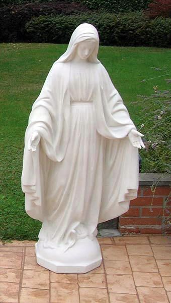 Mary Statue Lady Of Grace Statue Mother Mary Marble Outdoor Mary