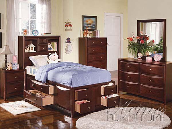 Acme Furniture Youth Bedroom Twin Size Bedroom Set 04090VT SET For