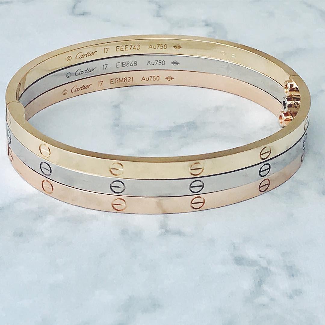 0d02e6b585d15 New Cartier Love Bracelet Small Model #18kgold #yellowgold ...