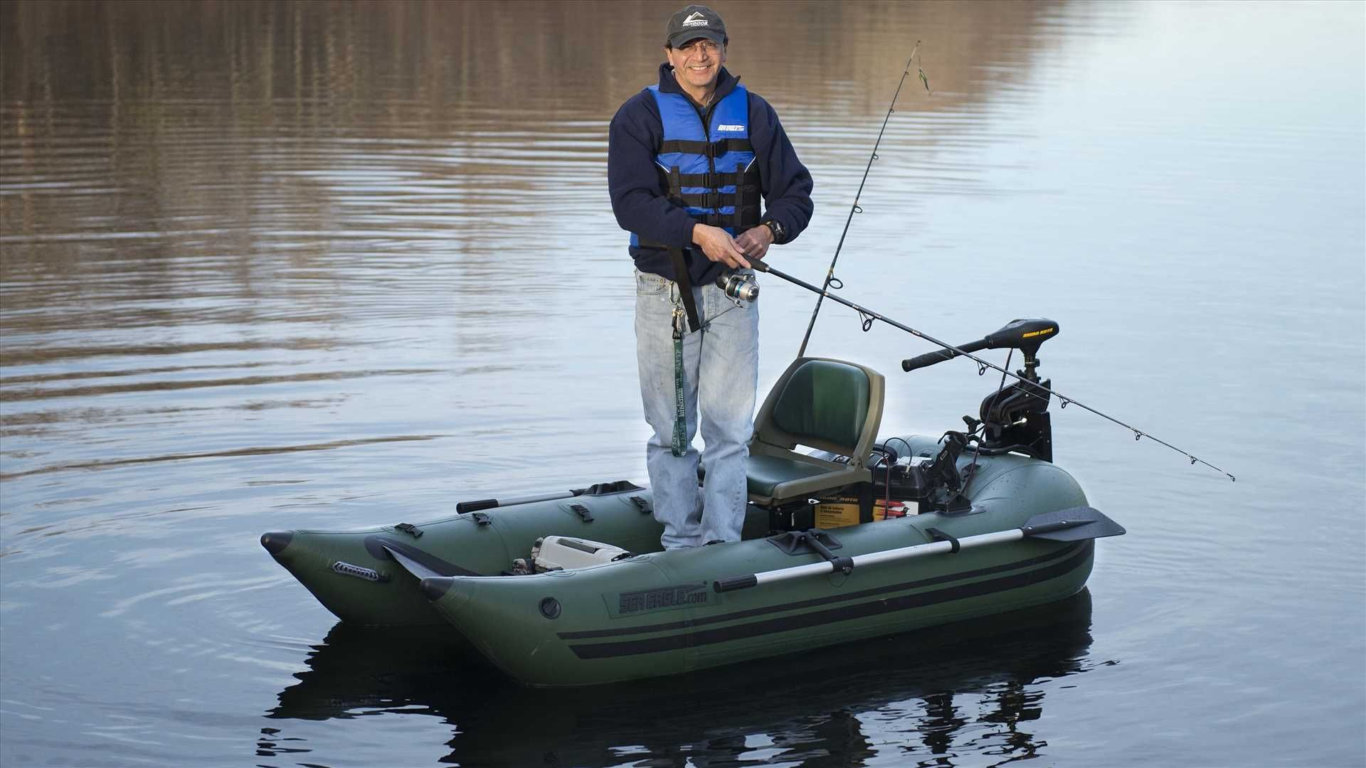 Sea Eagle 285fpb 1 Person Inflatable Fishing Boat Package Prices Starting At 799 Plus Free Shipping Fishing Boats Inflatable Pontoon Boats Pontoon Boat