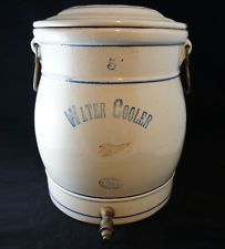 antique red wing 5 gallon water cooler crock stoneware pottery gal jug - 5 Gallon Water Cooler