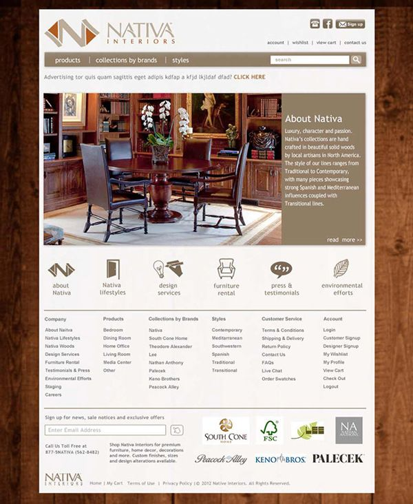 Nativa Interiors Website Design By Ka Man Lee. For More Works, Please Go To