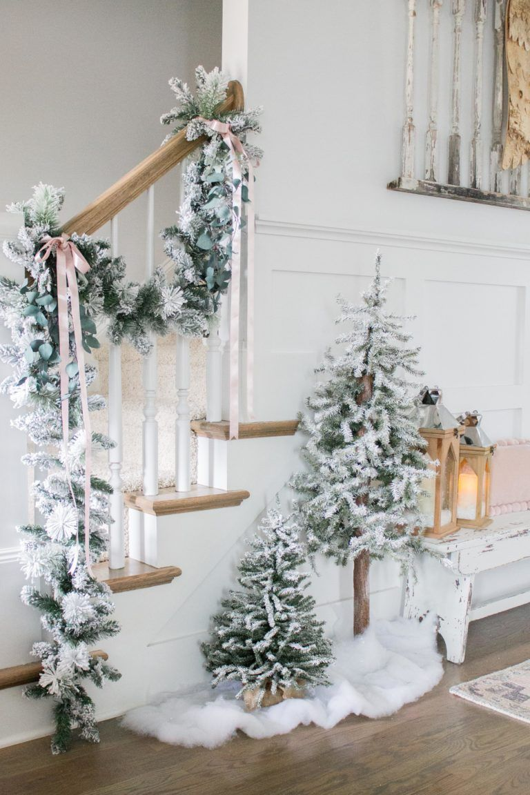 I M Dreaming Of A White Christmas Holiday Home Tour Part I Adrienne Elizabeth Neutral Christmas Decor Christmas Decorations Rustic Beautiful Christmas