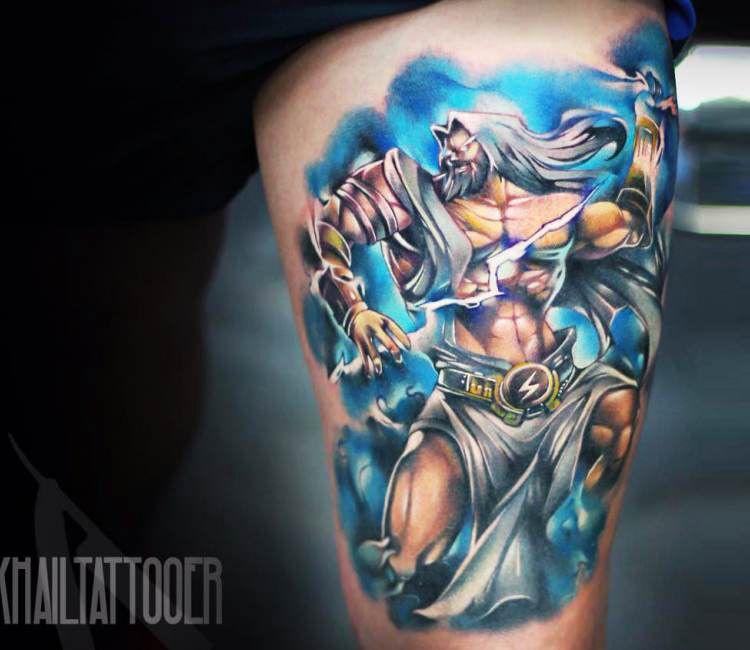 Zeus Tattoo By Khail Tattooer Post 16667 Zeus Tattoo Tattoos Gallery Weird Tattoos