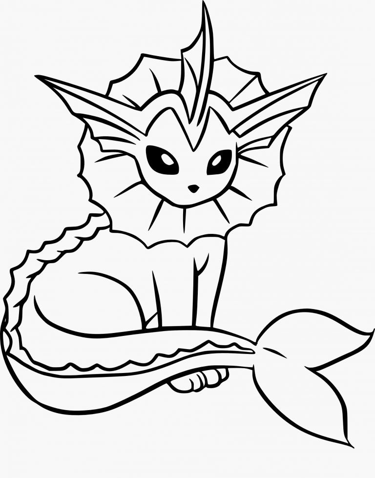 Coloriage Pokemon Imprimer Of Coloriage Aquali Pokemon Imprimer