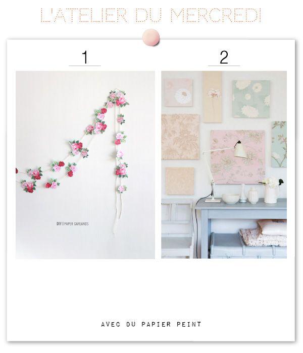 15 Diy Avec Des Chutes De Papier Peint Avec Images Papier