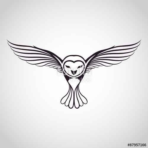 Vecteur Owl Logo Tattoo Ideas Chouette Tatouage Tatouage
