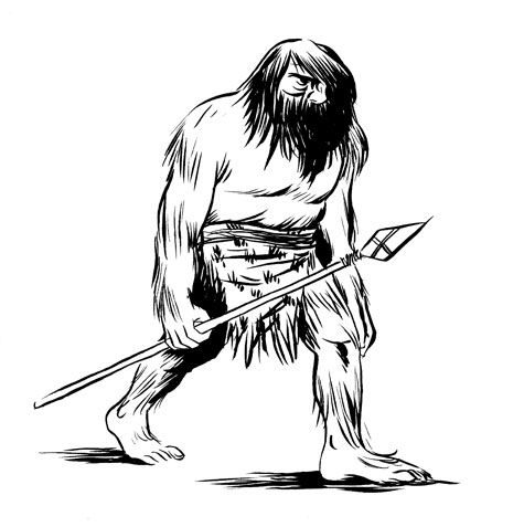 cave man coloring pages - photo#17
