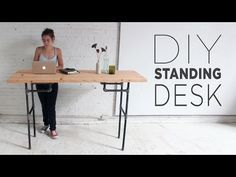 Build A Standing Desk That Converts To Work Table