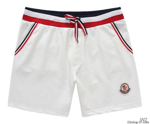ce5fe98bab5a FR short Moncler - short de bain Moncler homme Blanc   Beach wear ...