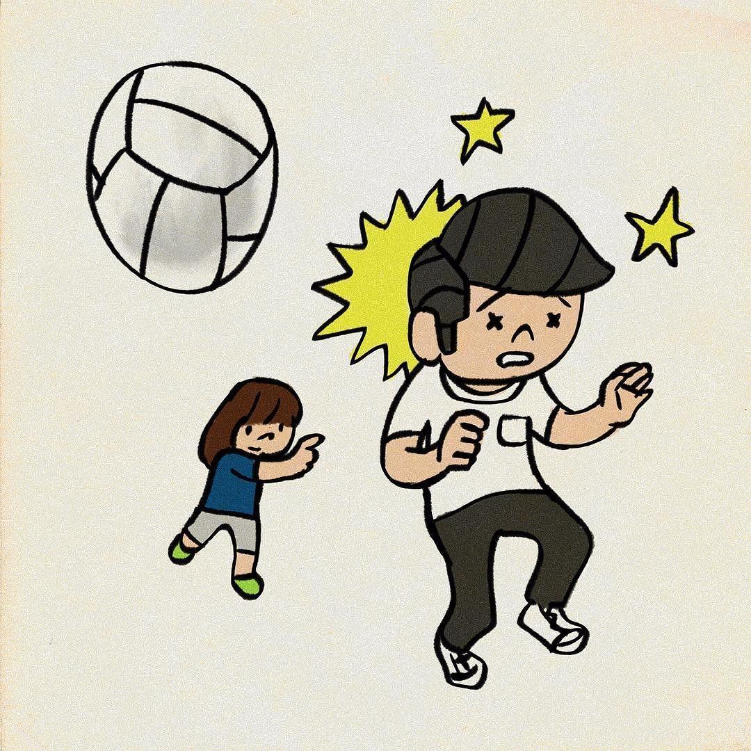 ドッジボール頭はセーフ ドッジボール イラスト My Illustration