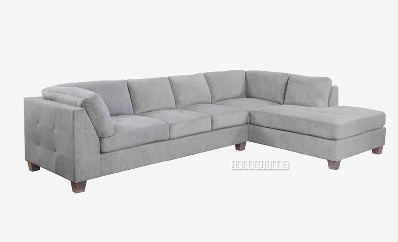 The Large And Comfy Newton L Shaped Sofa Is Available In Dark Or Light Grey Fabric And In Chaise Left Or C L Shaped Sofa Light Gray Couch Grey Leather Sofa