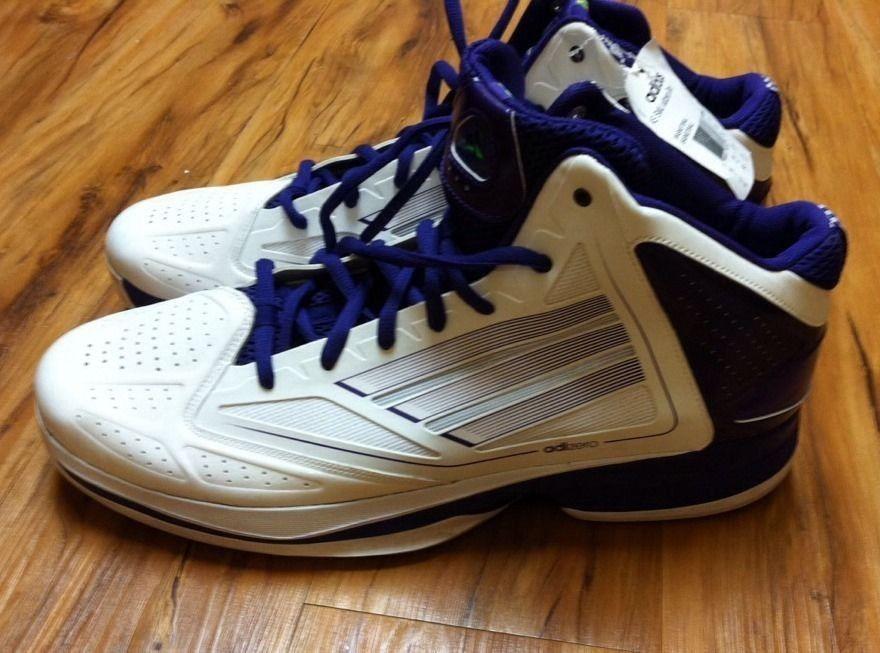 Adidas adizero como SMU fantasma 2 hombre  Basketball zapatos blanco / azul marino
