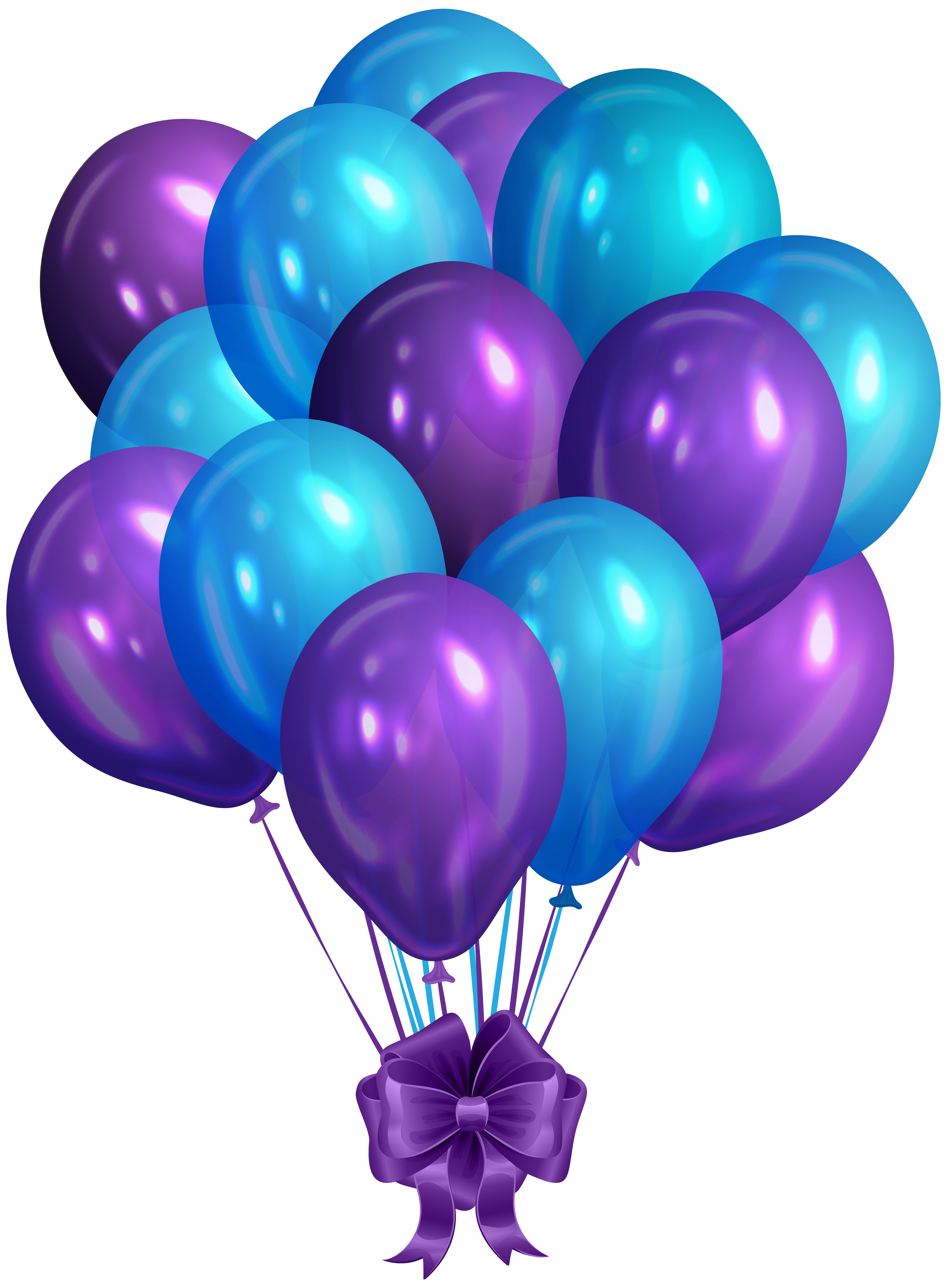 Blue Purple Bunch Of Balloons Clip Art Png Image Gallery Yopriceville High Quality Images And Transparent In 2020 Purple Balloons Balloons Happy Birthday Balloons
