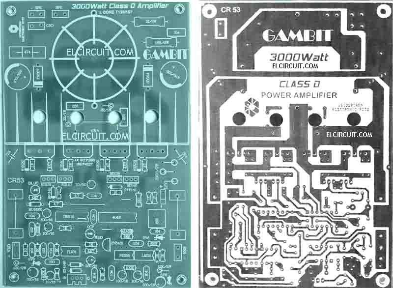 Circuito Impreso De Amplificador De 3000w : Pcb layout class d amplifier devreler pinterest