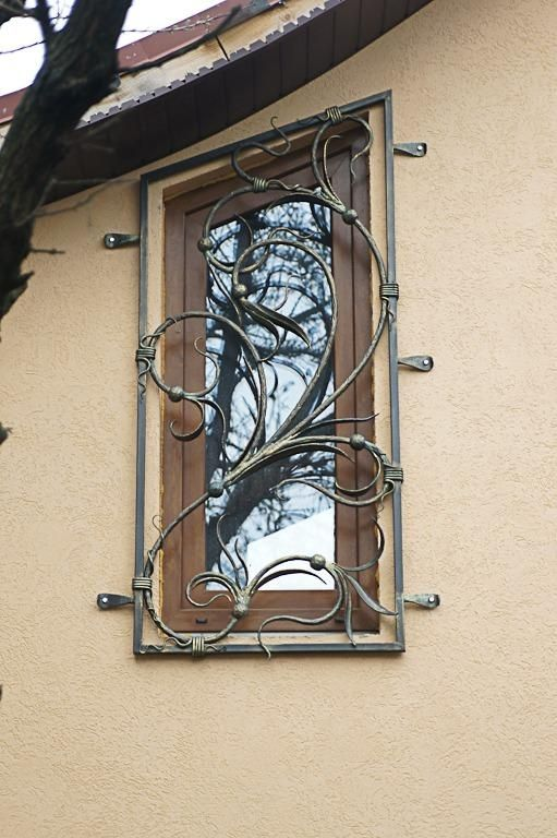 If you have to have burglar guards, at least have stylish ...