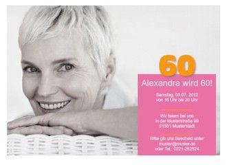 einladungskarte 60. geburtstag alexa | einladung | pinterest, Einladung